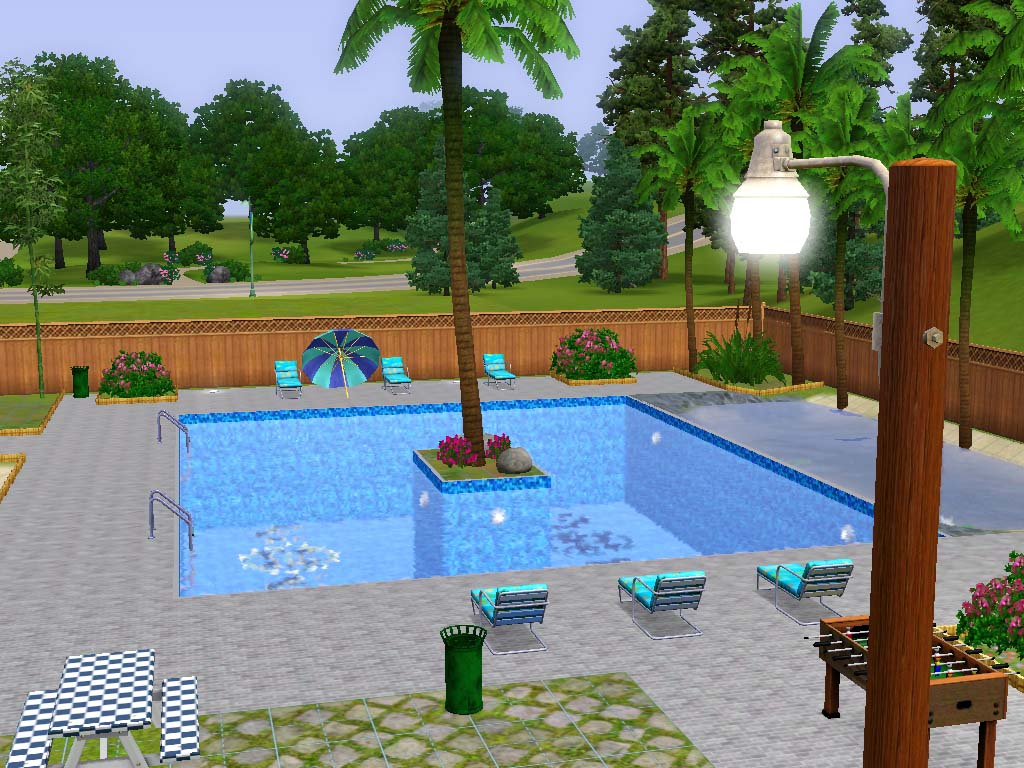 Mod the sims clover city community pool for Pool design sims 3