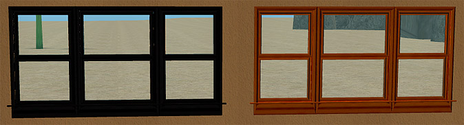 Three Wide Double Hung Windows : Mod the sims recolours of new triple wide double