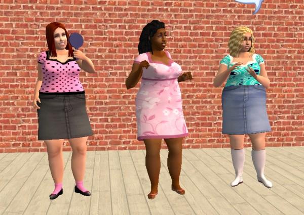 Mod The Sims - PLUS SIZE TEEN short dress - NEW MESH