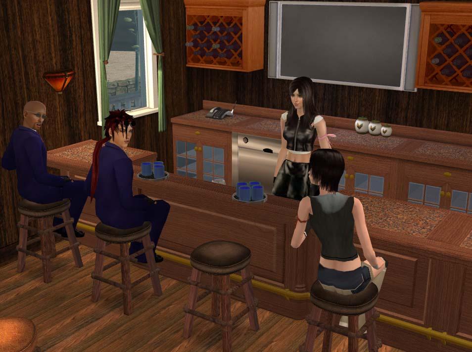 Mod The Sims - Final Fantasy VII: Tifa's Bar - 7th Heaven