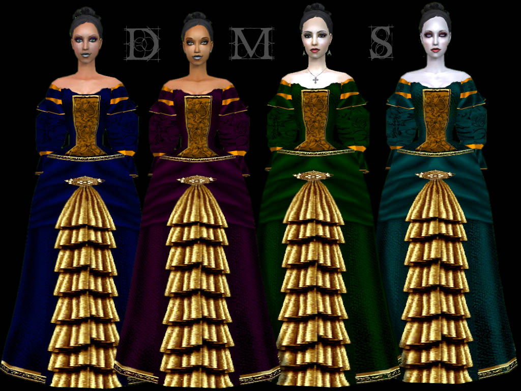 Mod The Sims - Imperial Recolors of Sussi\'s Baroque Gown