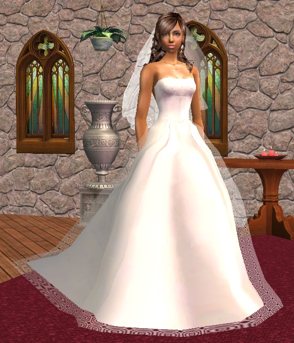 sims 2 wedding dress