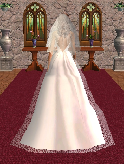 Mod The Sims Wedding Gown For Big Weddings Updated 29