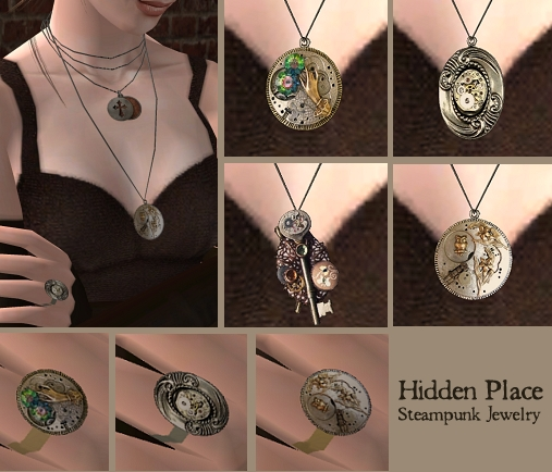 Mod The Sims - 'Hidden Place' - Steampunk Jewelry for men ...