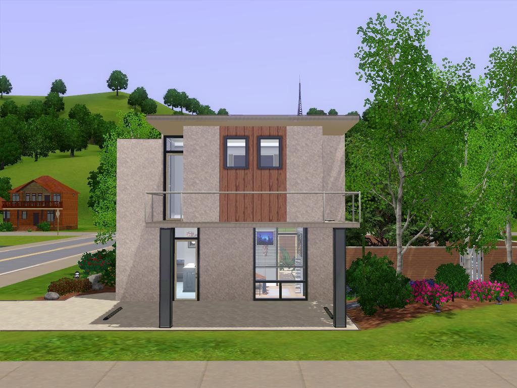 Mod the sims simple modernicity part ii for Minimalist house sims 2