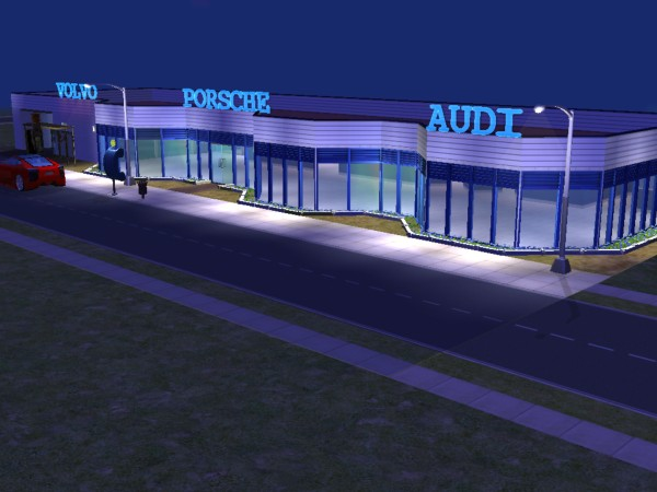 Mod The Sims - Car dealership Audi, Porsche and Volvo