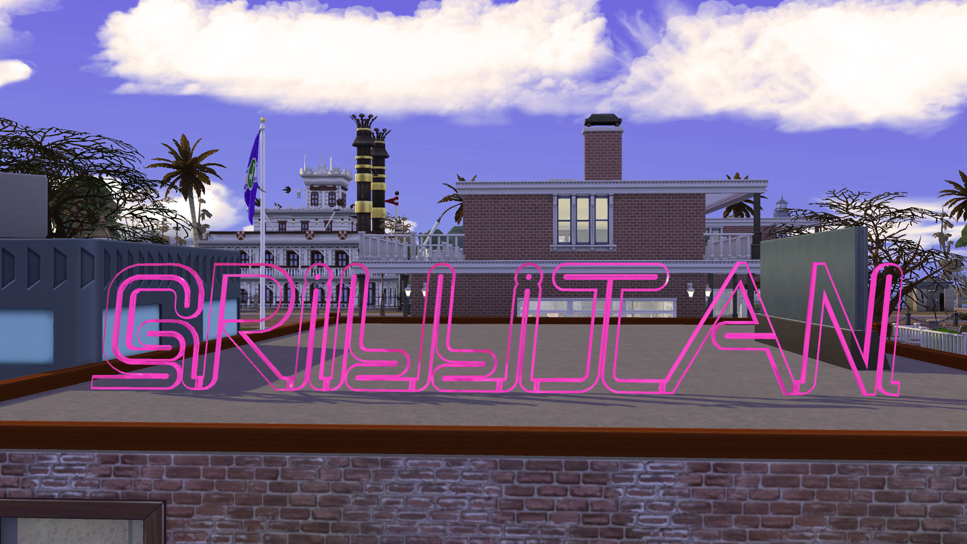 Mod The Sims - Modern Grillitan Diner Sign