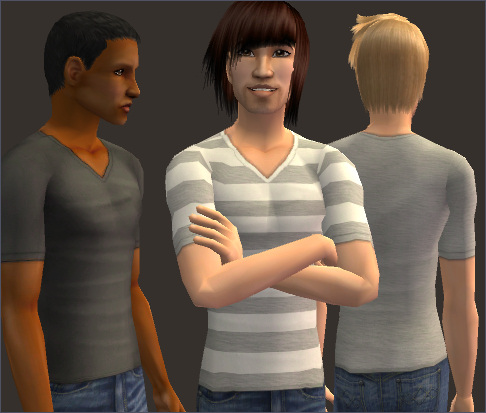 Mod the sims a lack of color 6 untucked v neck tees for Best untucked shirts for men