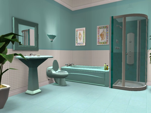 Mod The Sims Teal Bathroom