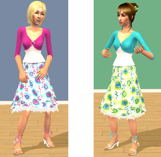 c854817b2 Mod The Sims - Summer Outfits for Teen Girls