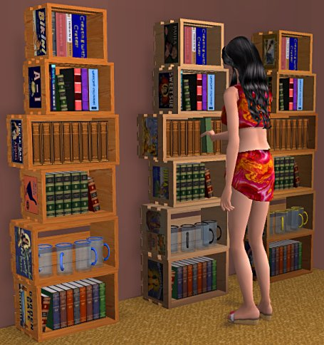 A Low Budget Bookshelf For Your Sims Made By Stacking Up Some Old Produce Crates