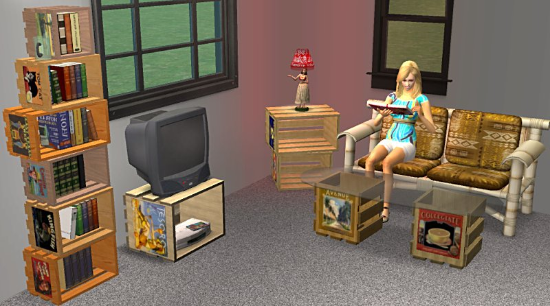 wooden crate furniture mod the sims crate furniture