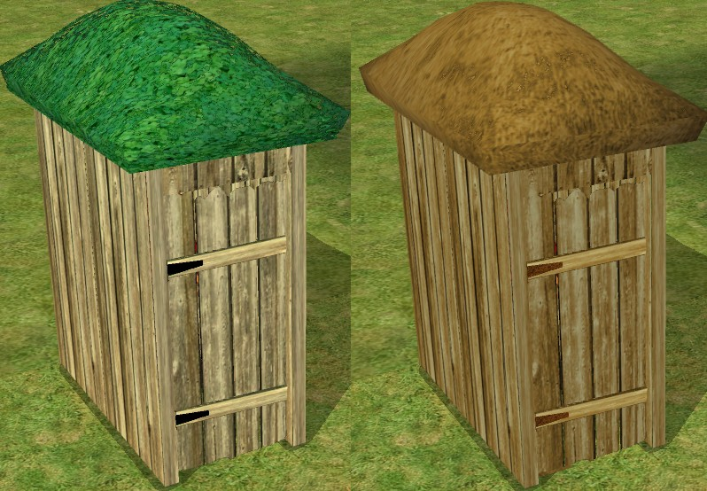 Marvelous Mod The Sims Thatched Roof Outhouse Download Free Architecture Designs Itiscsunscenecom
