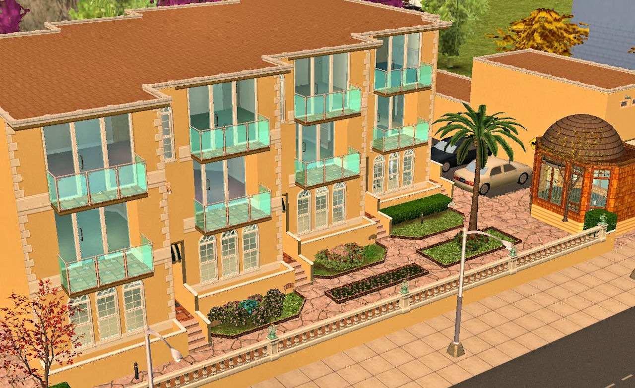 Как в симс 3 сделать многоквартирный дом