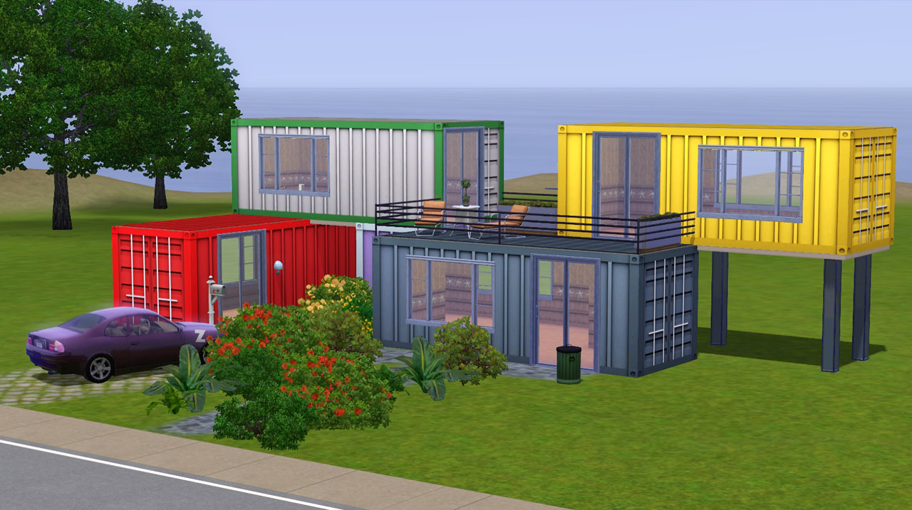 Mod the sims container textures for How to build a floor for a house