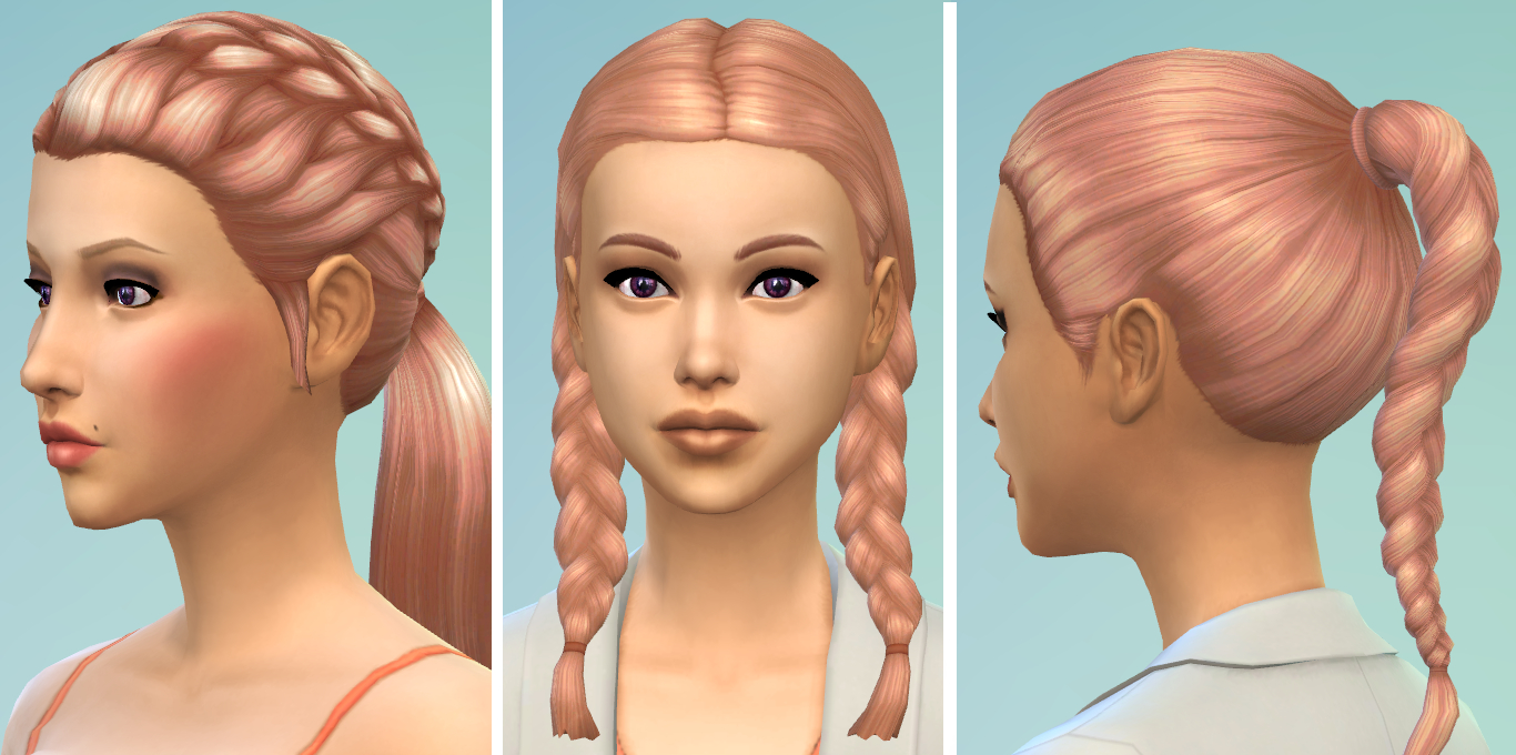 Mod The Sims Strawberry Blonde New Non Default Hair Colour