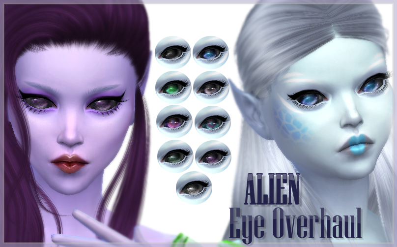 Mod The Sims Alien Eyes Overhaul Replacements And Contacts