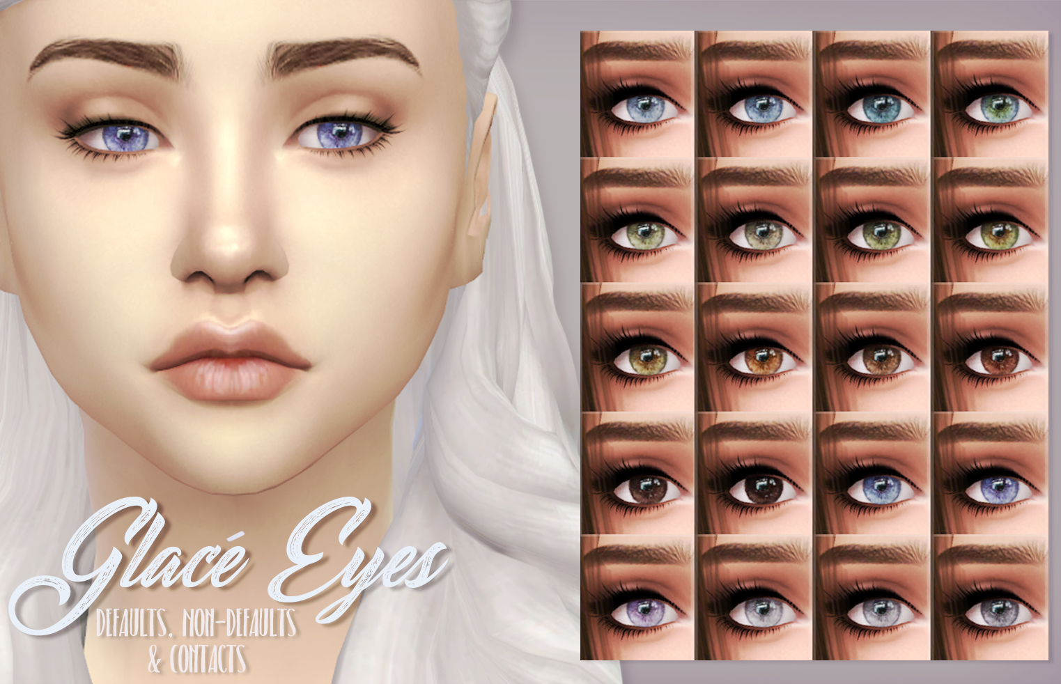 Mod The Sims - Glacé Eyes