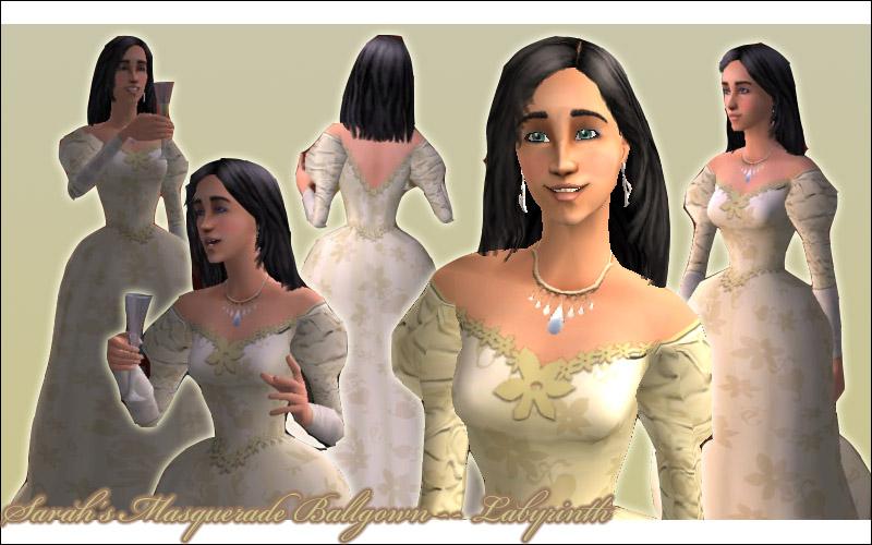 Mod The Sims Sarahs Masquerade Ballgown Labyrinth