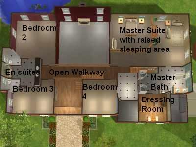 Mod the sims the corner house a mansion for your for Mansion floor plans sims 4