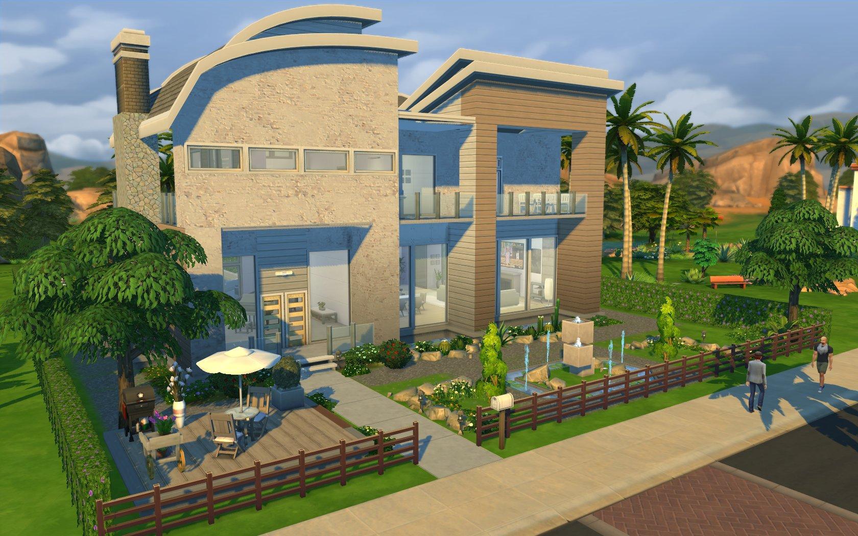 Mod the sims modern villa diana a very nice home for Very nice house