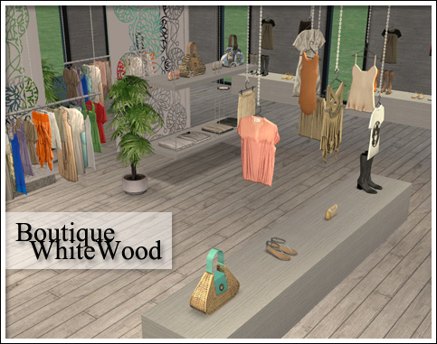 Mod The Sims - Boutique White Wood Set (OFB Required)