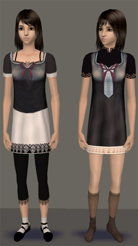 Mod The Sims - Requested: Mayu & Mio from Fatal Frame 2