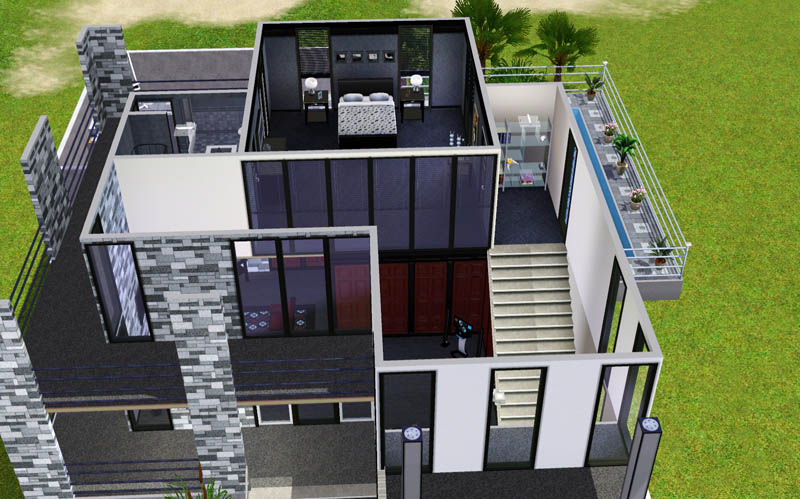 Mod The Sims Small Modern Beach House