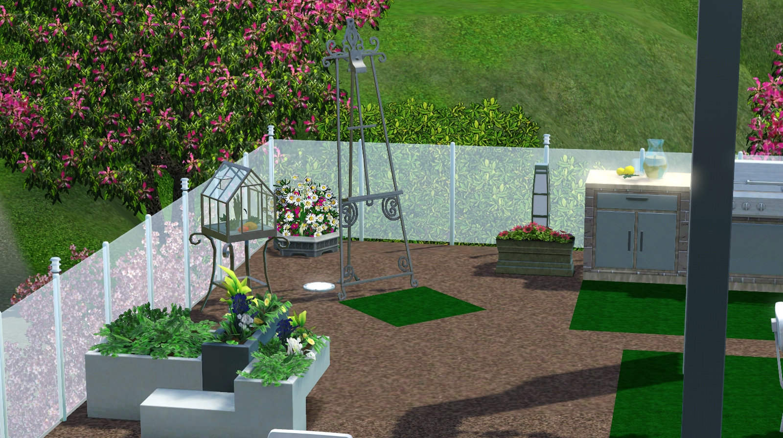 mod the sims modern upyard living