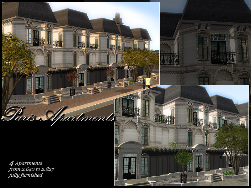 Mod the sims paris apartments for All paris apartments
