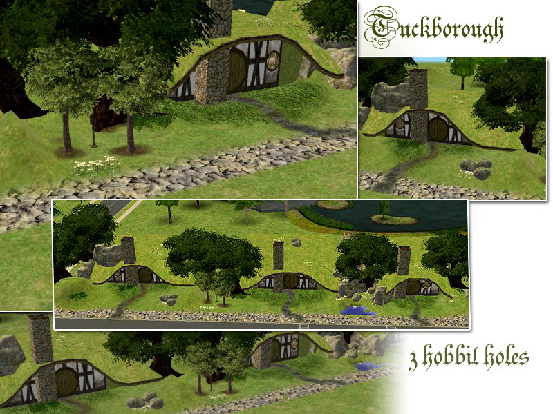 Mod The Sims Tuckborough 3 Hobbit Holes