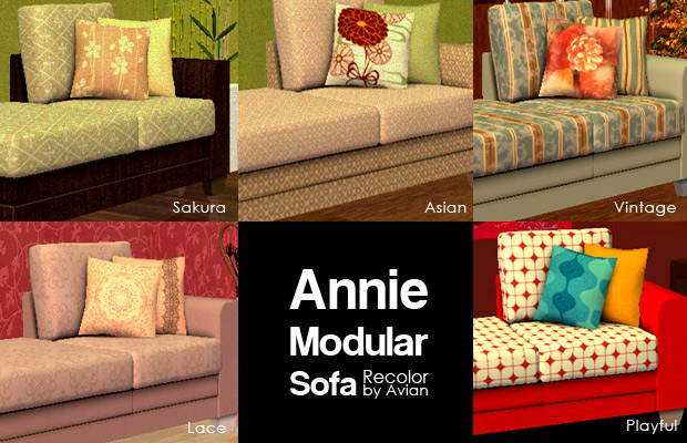 Mod The Sims Recolors Of Blake Boy S Annie Modular Sofa