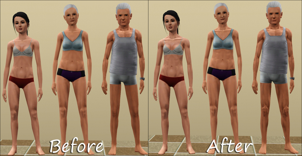 Mod The Sims Muscle Slider Fix For Naked Teens And Elders