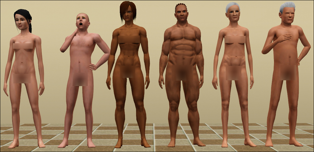 Mod The Sims - Muscle Slider Fix for Naked Teens and Elders