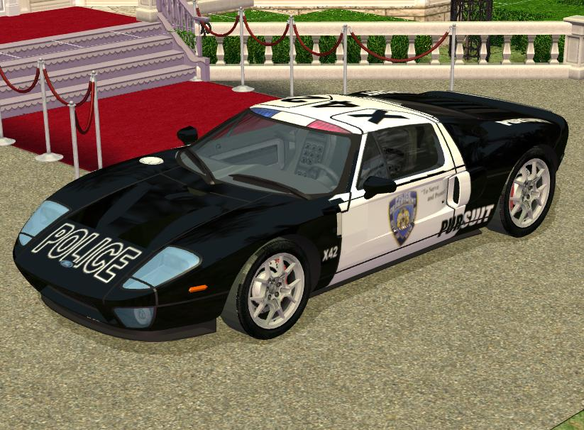 I Have Recoloured Wonkeys Excellent Ford Gt Mesh Into A Fast Pursuit Police Car