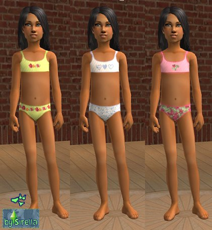 Mod The Sims - underwear for little girls