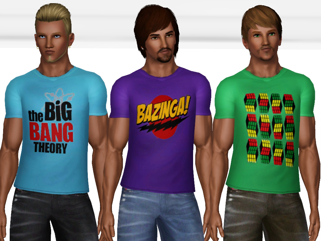 mod the sims the big bang theory t shirts. Black Bedroom Furniture Sets. Home Design Ideas