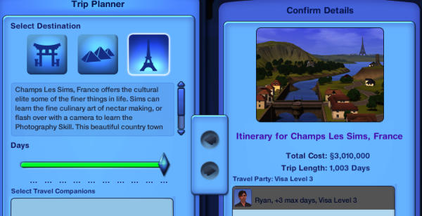 mod the sims longer vacations per visa level cost changes