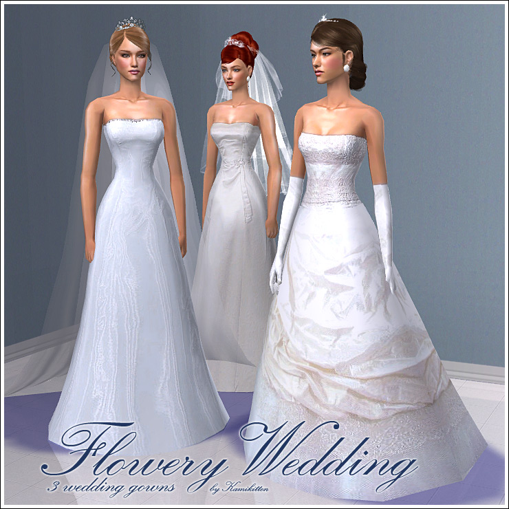 Wedding Hairstyles Games: Flowery Wedding * Bridal Gowns