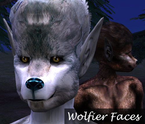 Mod The Sims - Wolf Pack: Non & Default Werewolf Skins