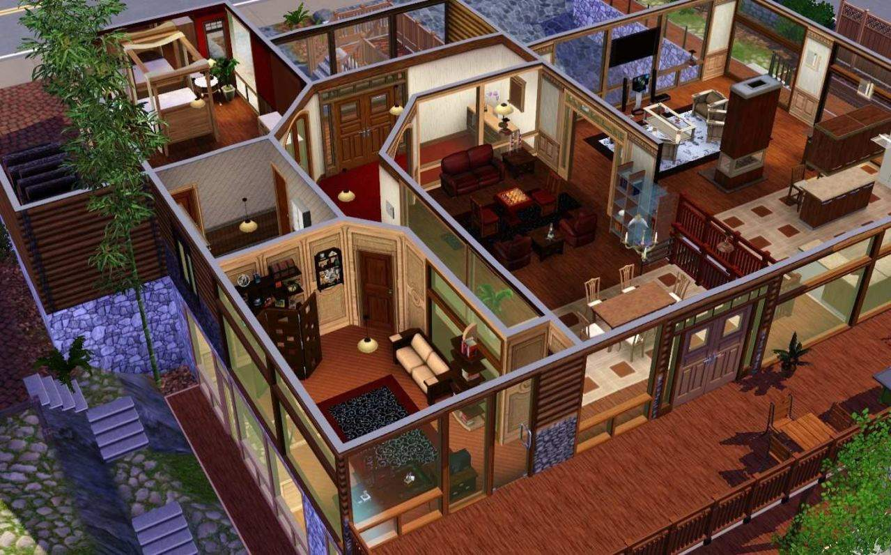 mod the sims mountain elysium 3br 2ba 30x30. Black Bedroom Furniture Sets. Home Design Ideas
