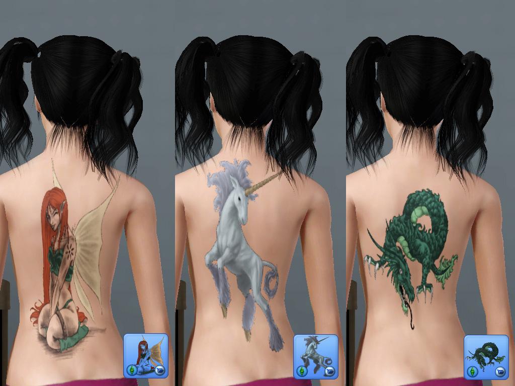 Как в симс 4 можно сделать тату