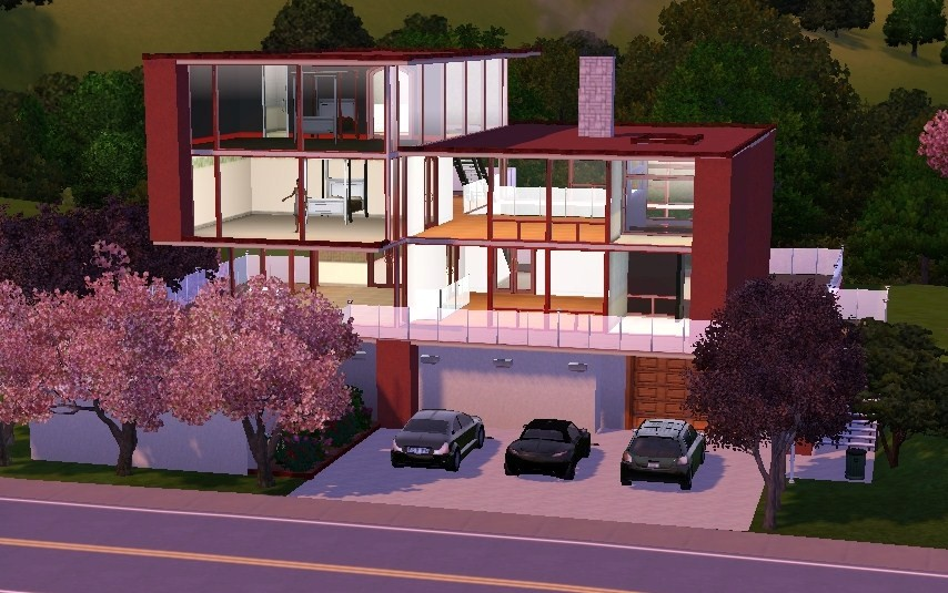 Mod The Sims Ultra Modern Home 3 Br 3 Ba For The