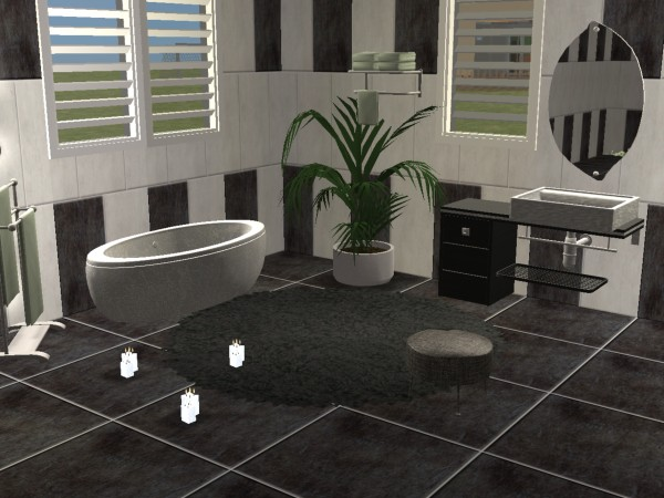 mod the sims bathroom marcel in black