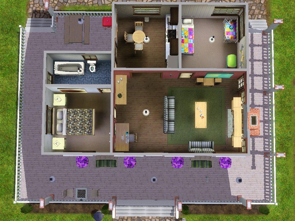 Mod The Sims Bannson House 2br 1ba