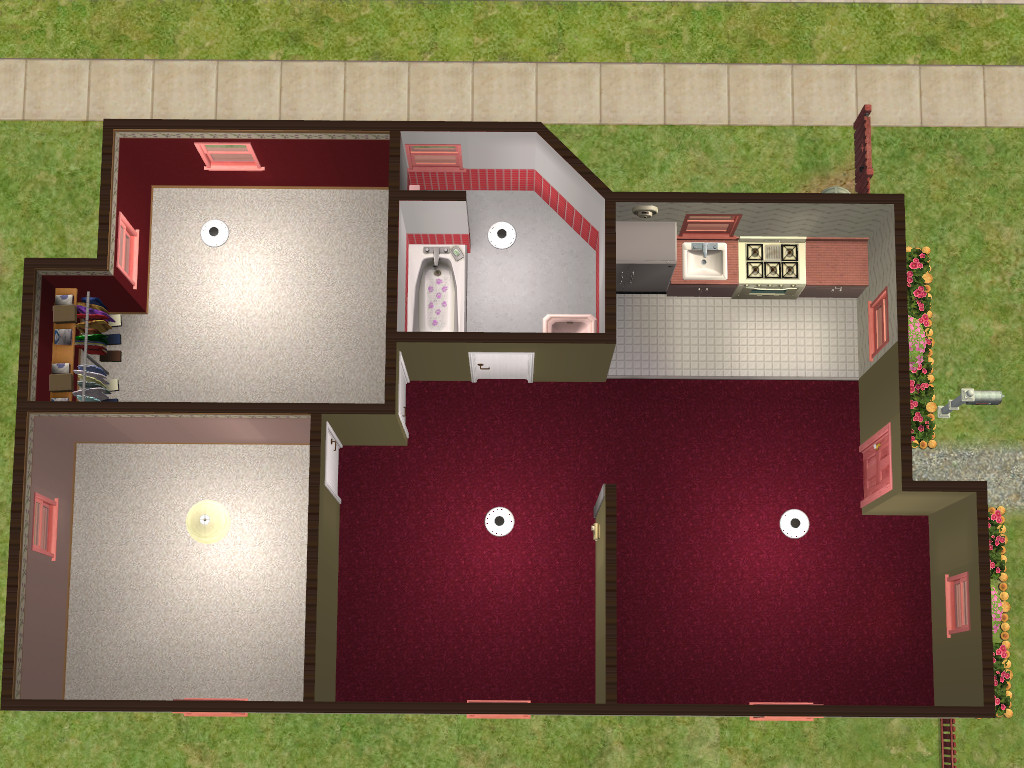 Mod The Sims Council Housing Set No CC All 10000 or Under – Council House Floor Plans