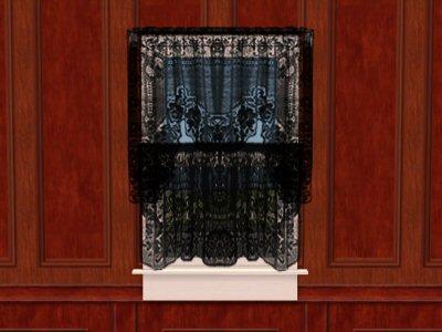 black lace curtain