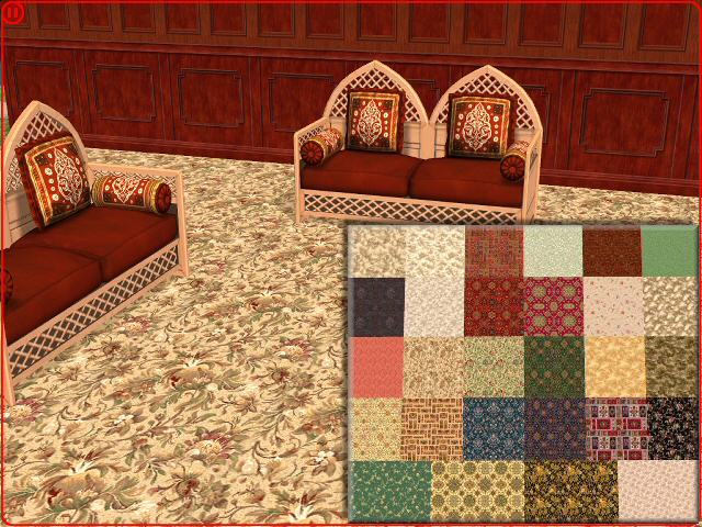 Mod The Sims Axminster Patterned Carpets