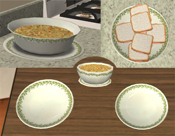 Remember that you can only use ONE set of default dinnerware replacements in your game at a time! & Mod The Sims - Default Plate Replacements: Corelle Crazy Daisy