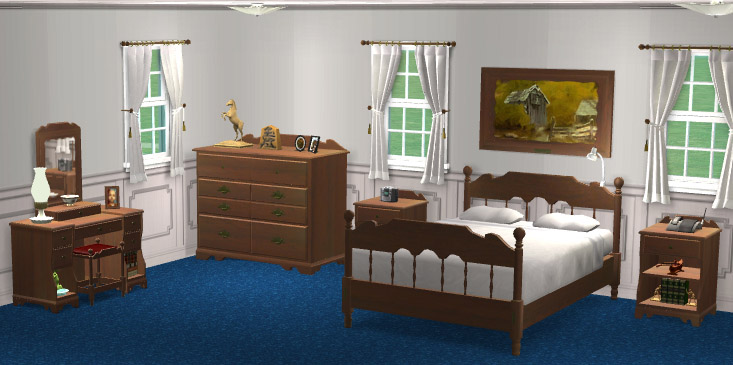 mod the sims ethan allen colonial bedroom set